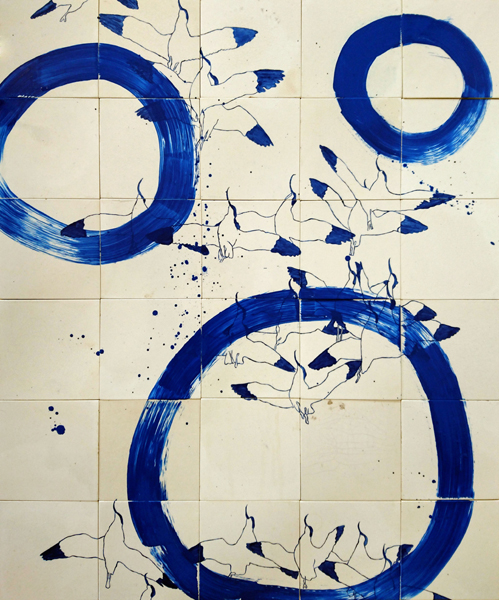 Tiles of Time Flying in Circles with Pied Avocets