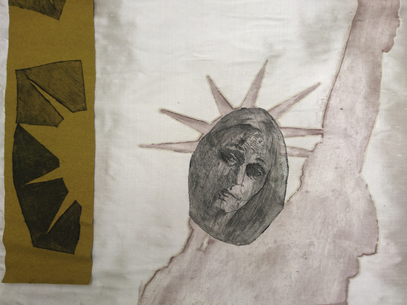 Detail Portrait Woman and Liberty