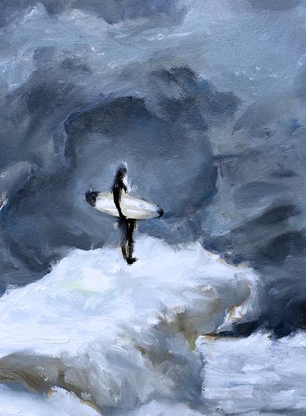 Ice Surfer - close up
