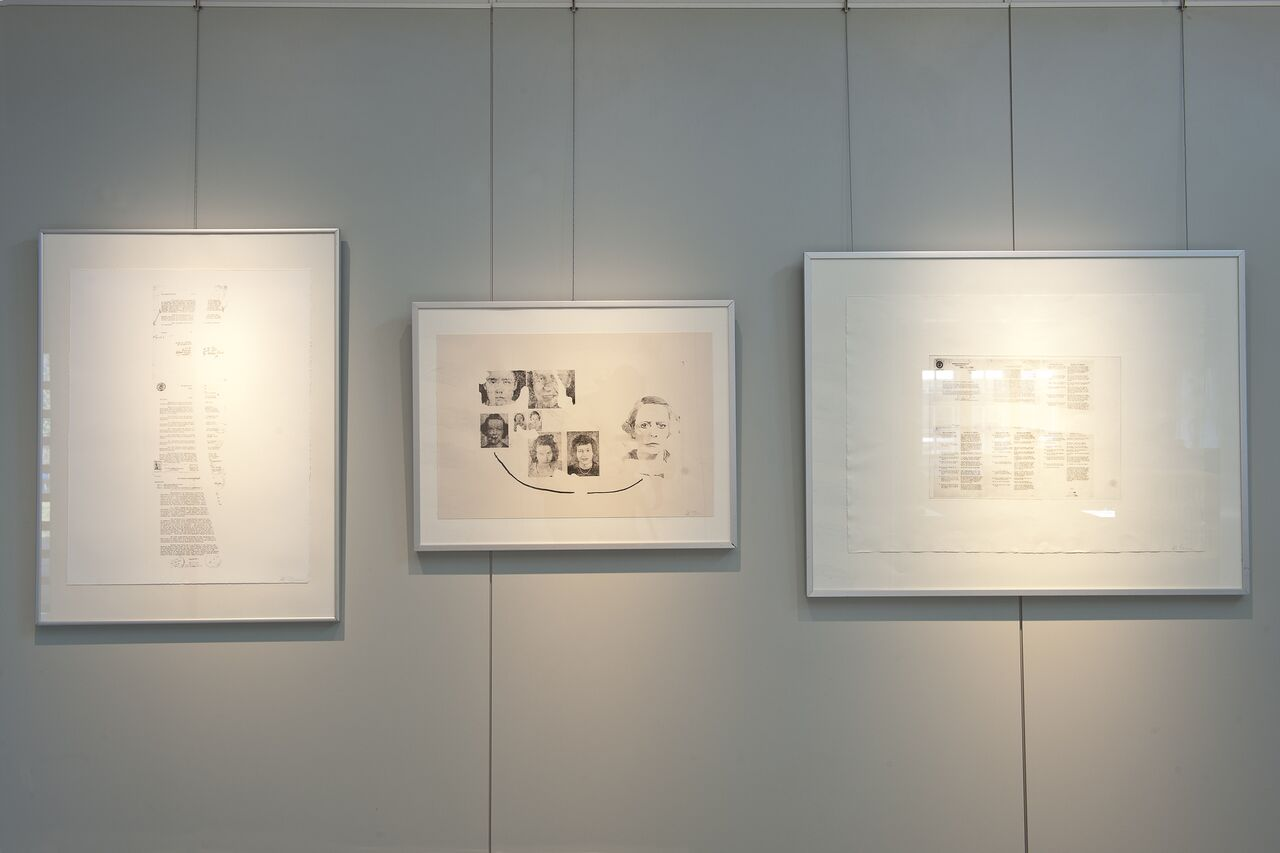 Installation view, Kunstschau Luftlinie, Ahrenshoop Art Museum, DE