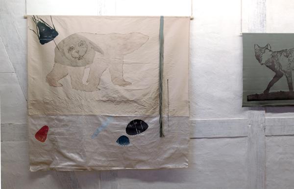 Exhibition view - Glow Romance, The Cobra Room, Sophienholm, Lyngby, Denmark
