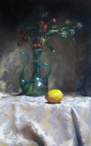 Green Bottle & Lemon