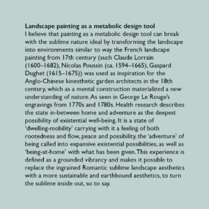 Landscape painting as a metabolic design tool